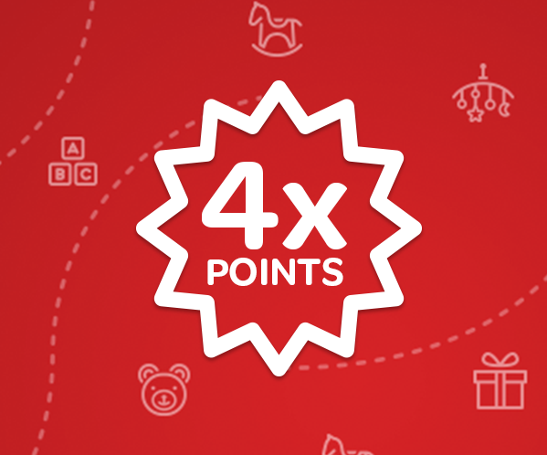 4X points on Snug & Dry Diapers!